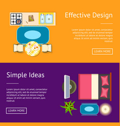 effective design simple ideas vector image