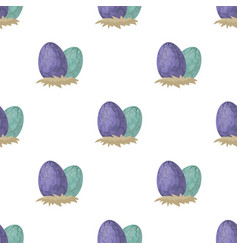 Eggs of dinosaur icon in cartoon style isolated on vector