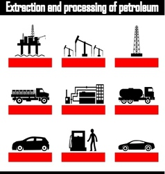 Extraction and processing petroleum vector