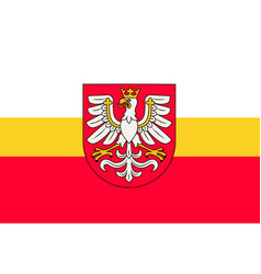Flag of lesser poland voivodeship in southern vector