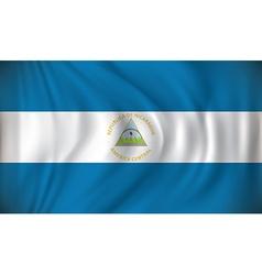 Flag of Nicaragua vector image