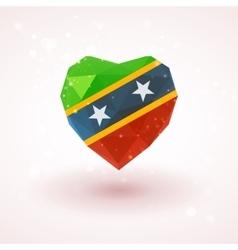 Flag of Saint Kitts and Nevis in shape diamond vector