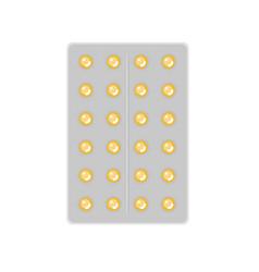 flat pill or vitamin vector image