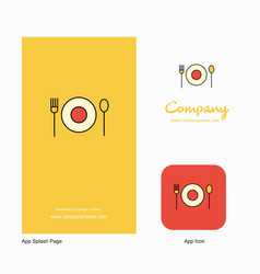 food company logo app icon and splash page design vector image