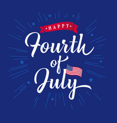 fourth july inscription vector image