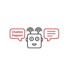 Funny robo emoji like chatbot vector