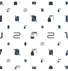 gas icons pattern seamless white background vector image