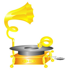 Gramophone retro vector