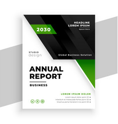 green geometric business annual report template vector image