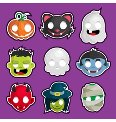 Halloween Head Stickers vector