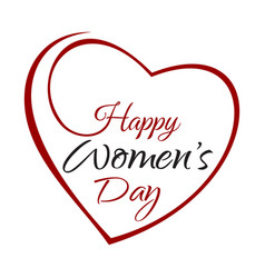 happy womens day hand lettering on the background vector image