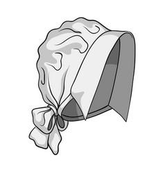 Headpiece single icon in monochrome style vector