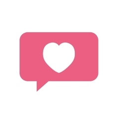 heart love bubble speech symbol vector image