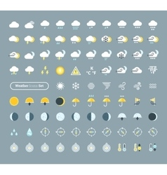Huge pack of weather icons vector