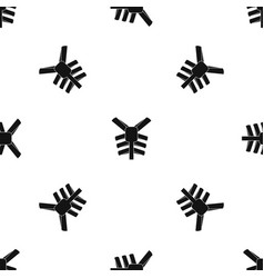 Human thorax pattern seamless black vector