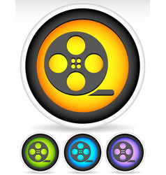 Icon with film roll symbol vector