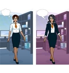 Indonesian Businesswoman in office interior vector image