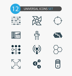 Learning icons set collection of branching vector
