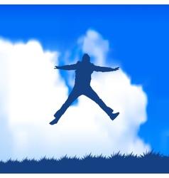 man jumping vector image