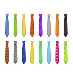 men tie set menswear elegant decorative accessory vector image
