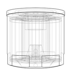 Oil filter concept vector