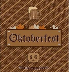 Oktober fest background vector