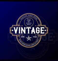 old classic retro vintage badge stamp emblem vector image
