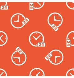 Orange 24 hours pattern vector