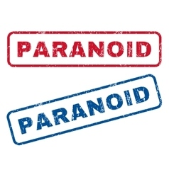 Paranoid Rubber Stamps vector