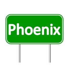 Phoenix green road sign vector