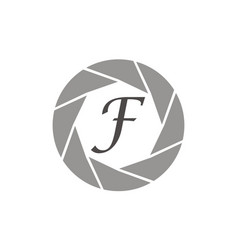 Photography service letter f vector
