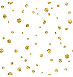 Polka dot gold white 3 haotic vector
