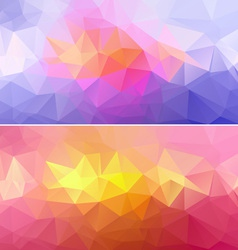Polygon Paper Backgrounds 01 vector image
