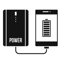 power bank charging smartphone icon simple style vector image