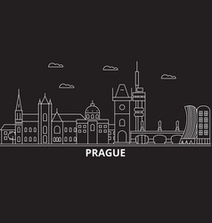 prague city silhouette skyline czech republic vector image