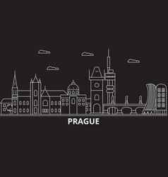 prague city silhouette skyline czech republic vector image