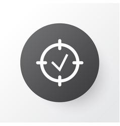 Project goals icon symbol premium quality vector