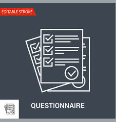 questionnaire icon thin line vector image