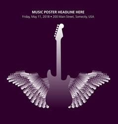 rock music poster template vector image
