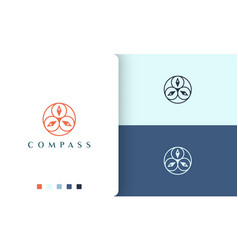Sail or navigation logo design with simple vector