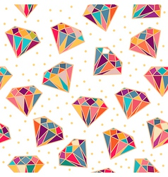 Seamless Pattern with Diamonds vector