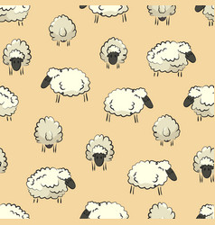 seamless stylized sheep herd print vector image