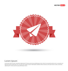 Send icon - red ribbon banner vector