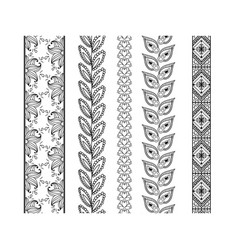 set ornamental borders decorative elements vector image