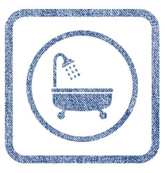 Shower bath fabric textured icon vector