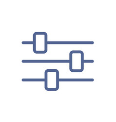 simple line art icon sound control bar or mixer vector image