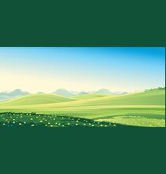 Summer mount landscape vector