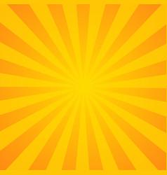 Sunburst background orange background with radial vector