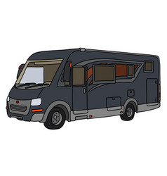 The dark large motor home vector
