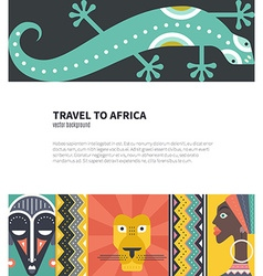 Travel to africa vector